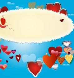 Card by St Valentine s Day 3 vector image