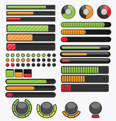 Cartoon progress bar pack 1 vector