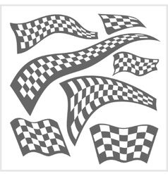 Checkered Racing Flags - set vector