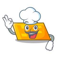 chef parallelogram character cartoon style vector image
