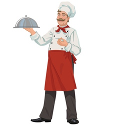 Chef tray closed vector