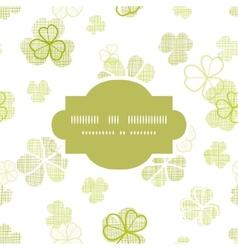 clover textile textured line art frame seamless vector image