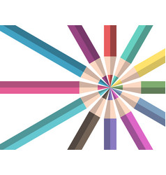 Color pencils teamwork concept vector