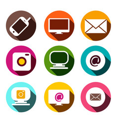 computer cellphone camera at - email and camera vector image
