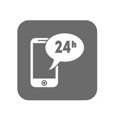 customer service icon with smartphone vector image vector image