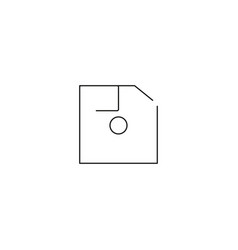 diskette linear icon vector image