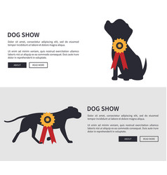 dog show poster web pages set vector image