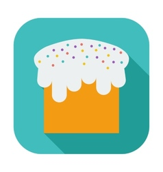Easter cake single icon vector image