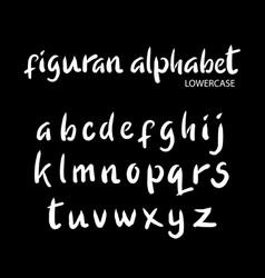 Figuran alphabet typography vector