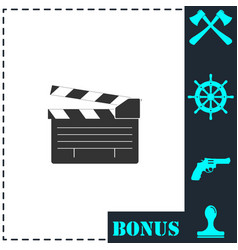 film flap icon flat vector image