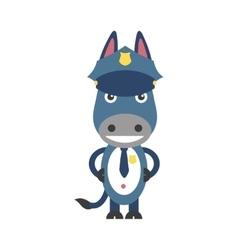 Flat icon on white background cartoon donkey vector