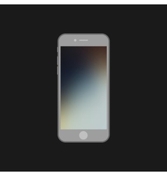 Flat mock up phone with blurred screen background vector