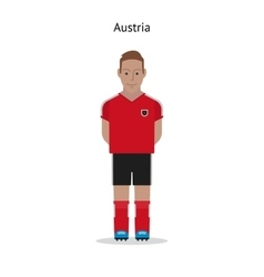 Football kit Austria vector