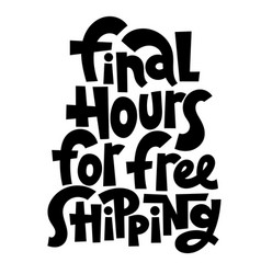free shipping lettering vector image