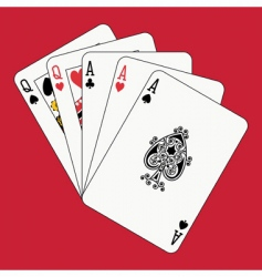 full house aces and queens vector image