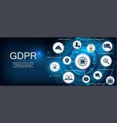 gdpr concept idea data protection vector image