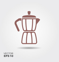 geyser coffee maker icon vector image