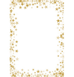 golden stars confetti background vector image