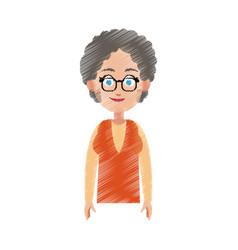Happy pretty woman icon image vector