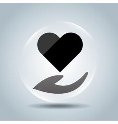heart love design vector image