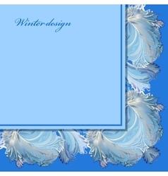 Horizontal angle border design Winter frozen vector