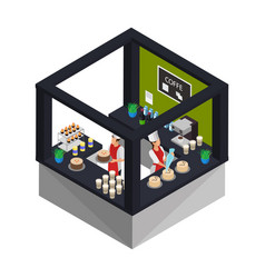 Isometric confectionery shop concept vector