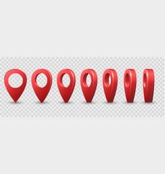 map 3d pins vector image