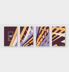 minimal cover collection design halftone brown vector image