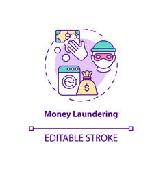 Money laundering concept icon vector