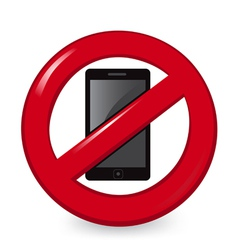 No Phones vector image