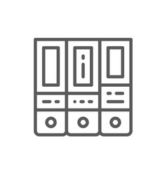 Office folder arch files line icon vector