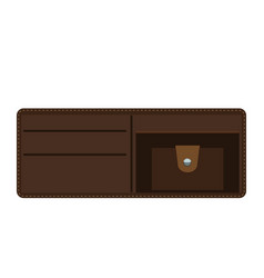 opened wallet with flat and solid color style vector image