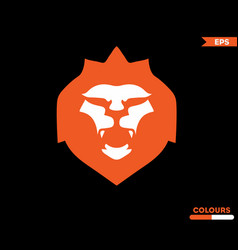 orange lion logo vector image