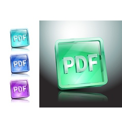 pdf icon button internet document file vector image