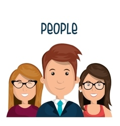 people group design vector image