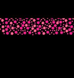 pink sakura background romantic vector image