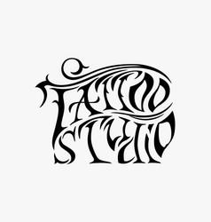Retro style emblem tattoo studio sign vector