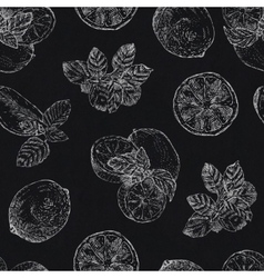 Seamless pattern with chalk lime and mint on vector image