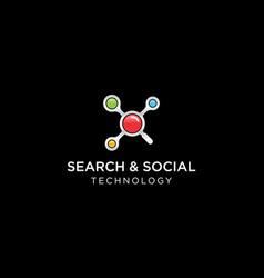 search social network logo design concept vector image
