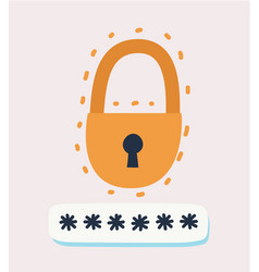 security symbol lock sign vector image