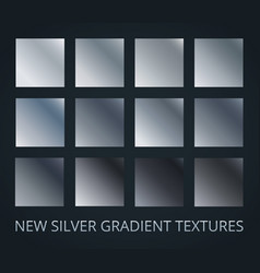 set of silver diagonal gradients on darl vector image