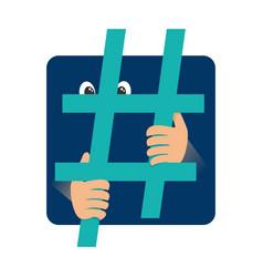 Social media addiction concept vector