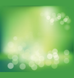 spring or summer green abstract blur bokeh vector image