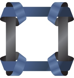 Square ribbon frame template vector image