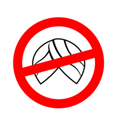 stop migrants ban illegal migration red vector image