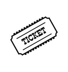 Train ticket icon vector