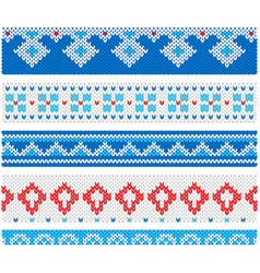 ugly sweater christmas party flat style vector image