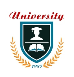 University badge or emblem vector