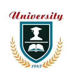 University badge or emblem vector image