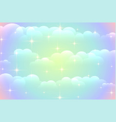 Vibrant clouds background with shiny stars design vector